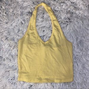 Yellow halter top